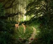 deer in enchanted forest
