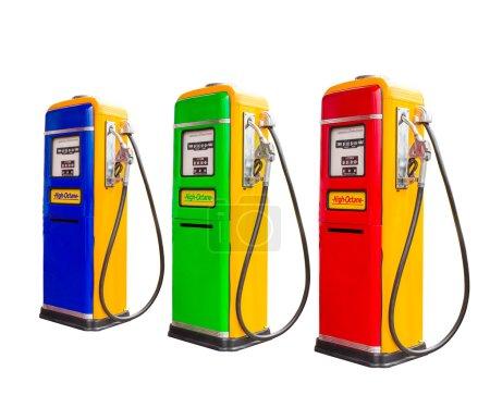 Gasoline fuel pump dispensers