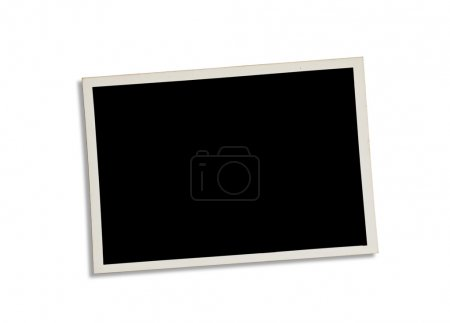 Old photograph isolated on white. Clipping path included.
