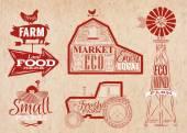 Farm vintage red
