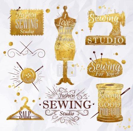 Sewing symbol gold