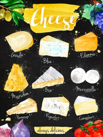 Poster cheese chalk