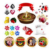 Set of Casino Gambling Elements