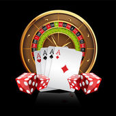 Background with Roulette Wheel