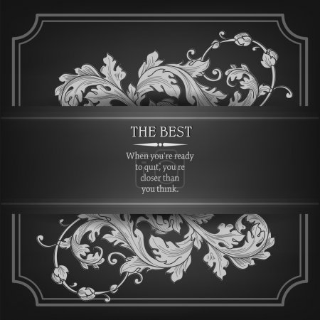 Illustration for Beautiful elegant background with lace floral ornament and place for text. Design elements, ornate background. Vector illustration. EPS 10. - Royalty Free Image