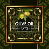Golden decorative design with olive branch