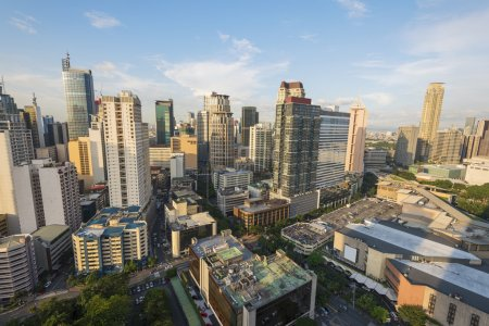 Makati City Skyline. Makati City is one of the mos...