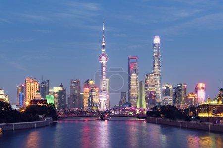 Shanghai Skyline at night.