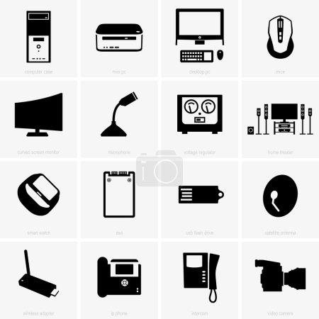 Set of computer peripherals