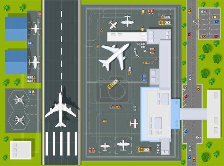 Perspective aérienne aéroport