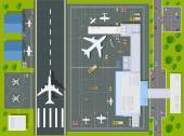 Overhead   point of view airport