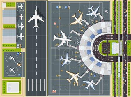 L'aéroport vue d'en haut