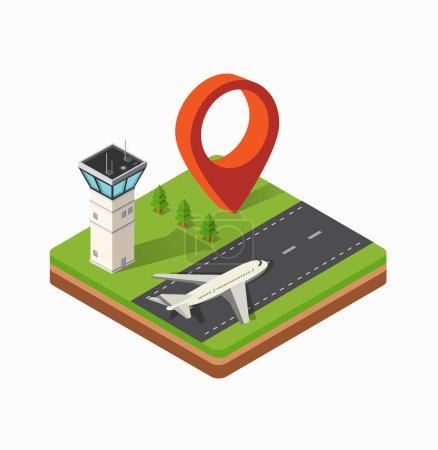 Aéroport de la ville d'impression