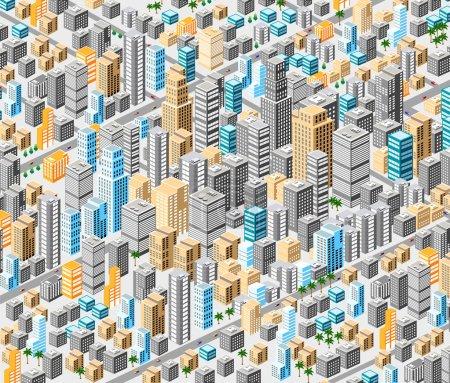 Background of isometric city