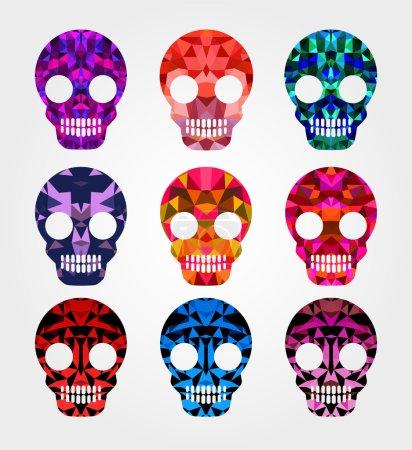 Set of skulls