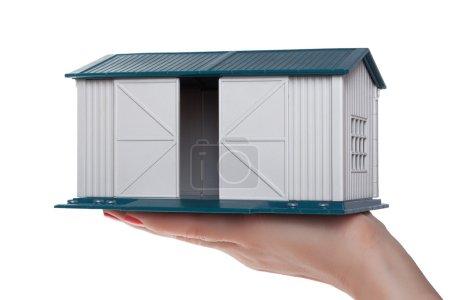 Modelo de garaje en la palma