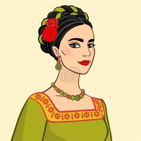 Illustration pour Portrait de la femme mexicaine - image libre de droit