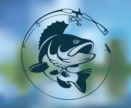 perch fishing logo