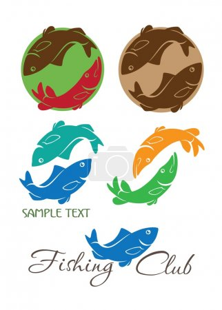 Carp and pike logos