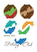 Figure shows the carp and pike logos vector illustration