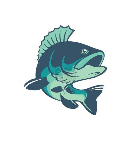 Perch fish logo