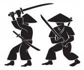 Samurai with weapon