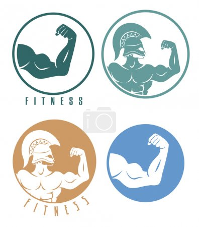 colorful fitness icons