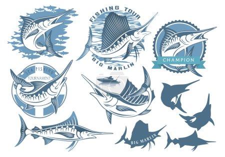 marlin fishing icons