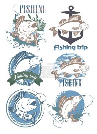 Icons fish perch