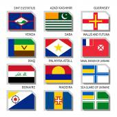 Flags of world flat vector illustration Set number 17