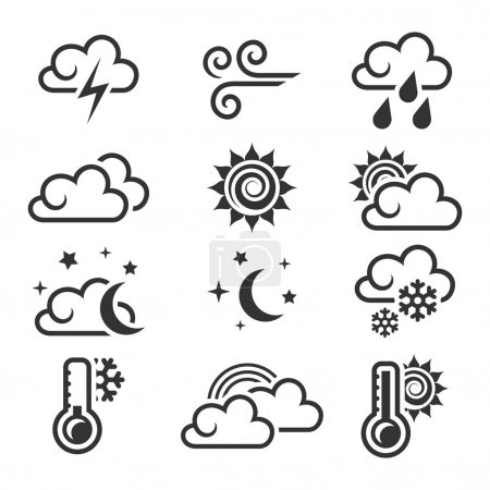 Weather icon set.