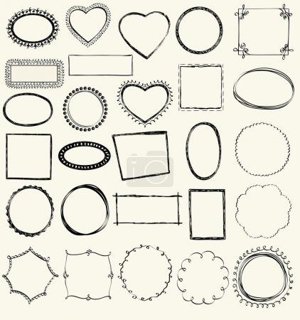 Illustration for Illustration of Hand-Drawn Doodles and Design Elements. - Royalty Free Image