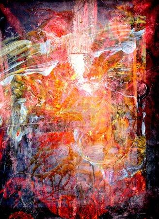 Photo pour Belle grande échelle Image d'une peinture à l'huile originale sur toile - image libre de droit
