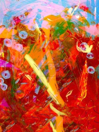 Photo pour Joli Résumé original peinture à l'huile technique mixte - image libre de droit