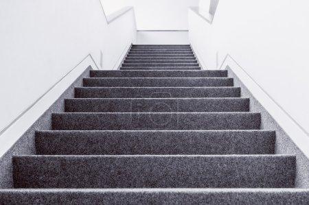 Empty indoor steps