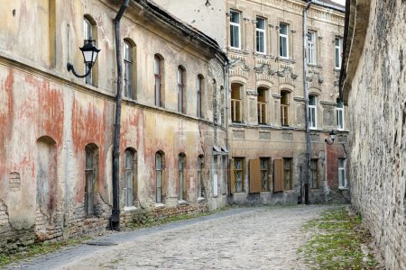 Weathered old town street