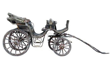 Horse drawn carriage isolated on white backhround