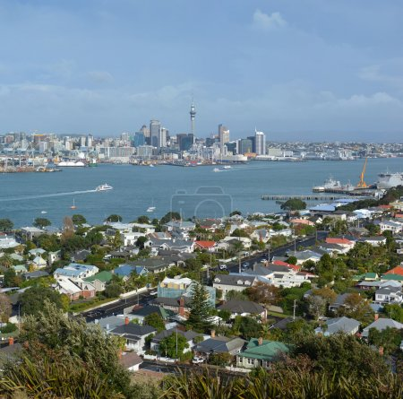 Auckland City vew from Mount Victoria, Devonport Royalty Free