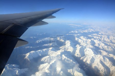 Aerial View of Southern Alps of New Zealand in Spring.