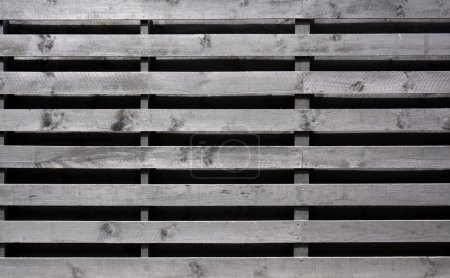 Old Wood Fence Background with Horizontal Palings.