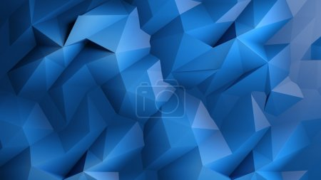Photo for Abstract dark blue low poly background - Royalty Free Image