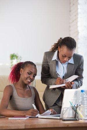 Business women in office