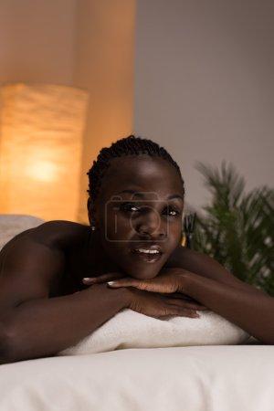 African Woman in Beauty Salon