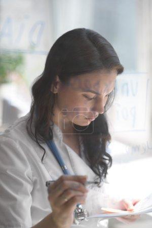 Medical doctor working