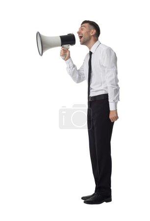 Photo pour Beau portrait d'homme d'affaires isolé sur fond blanc - image libre de droit