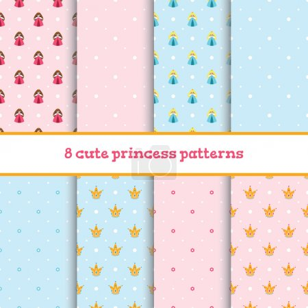 Set of cute patterns