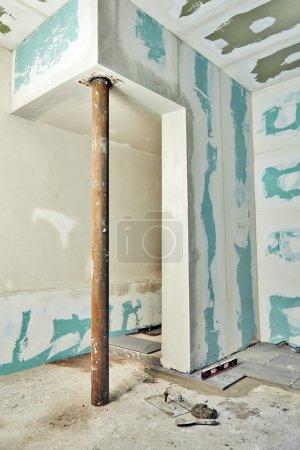 Plaques de plâtre montrant rénovation intérieure