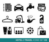 Hotel and Travel icons set 03