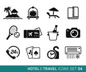 Hotel and Travel icons set 04