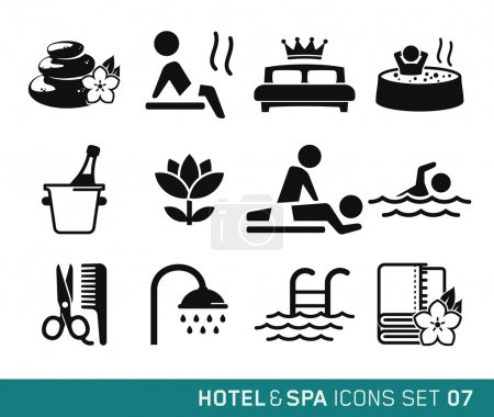 Illustration for Hotel and Travel icons set 07 - Royalty Free Image
